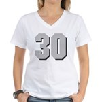 Hull 30 Women's V-Neck T-Shirt