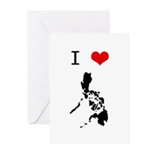I Heart The Philippines Greeting Cards (Pk of 10)