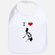 I Heart The Philippines Bib