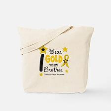 I Wear Gold 12 Brother CHILD CANCER Tote Bag