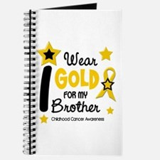 I Wear Gold 12 Brother CHILD CANCER Journal