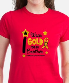 I Wear Gold 12 Brother CHILD CANCER Tee
