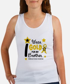 I Wear Gold 12 Brother CHILD CANCER Women's Tank T