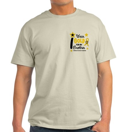 I Wear Gold 12 Brother CHILD CANCER Light T-Shirt