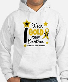 I Wear Gold 12 Brother CHILD CANCER Hoodie