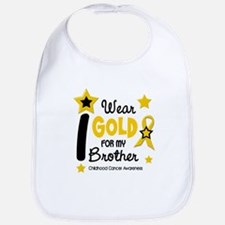I Wear Gold 12 Brother CHILD CANCER Bib