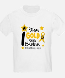 I Wear Gold 12 Brother CHILD CANCER T-Shirt