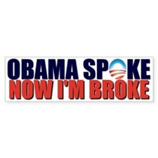 Obama Spoke Bumper Bumper Sticker