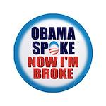 """Obama Spoke 3.5"""" Button"""