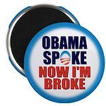"""Obama Spoke 2.25"""" Magnet (100 pack)"""