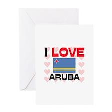 I Love Aruba Greeting Card