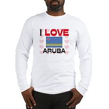 I Love Aruba Long Sleeve T-Shirt