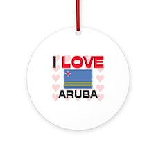 I Love Aruba Ornament (Round)