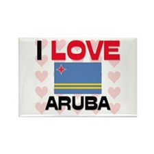 I Love Aruba Rectangle Magnet