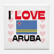I Love Aruba Tile Coaster