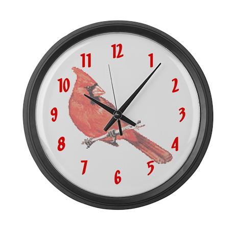 Cardinals Large Wall Clock