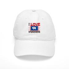 I Love Wyoming Baseball Cap