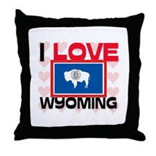 I Love Wyoming Throw Pillow