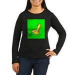 Duck Women's Long Sleeve Dark T-Shirt G/Y