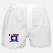 I Love Virginia Boxer Shorts