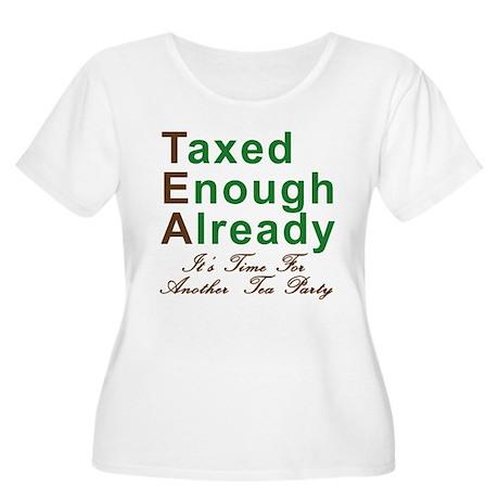 TEA PARTY Women's Plus Size Scoop Neck T-Shirt