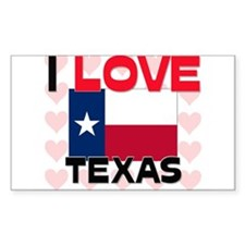 I Love Texas Rectangle Decal