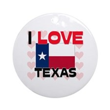 I Love Texas Ornament (Round)