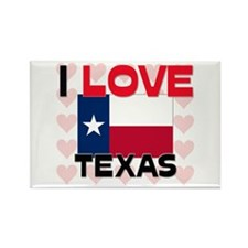 I Love Texas Rectangle Magnet