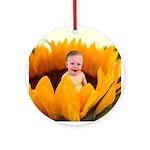Sunflower Baby Ornament (Round)