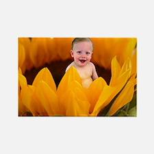 Sunflower Baby Rectangle Magnet