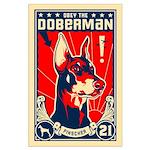 Obey the Doberman! Patriotism Large Poster