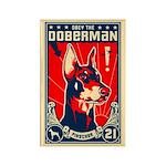 Obey the Doberman! Patriotism Magnet