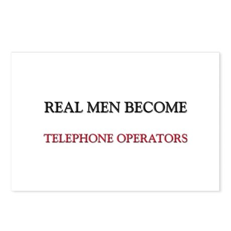 Real Men Become Telephone Operators Postcards (Pac