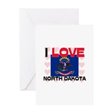 I Love North Dakota Greeting Card