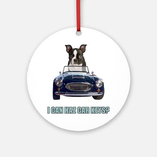 LOL Boston Terrier Ornament (Round)