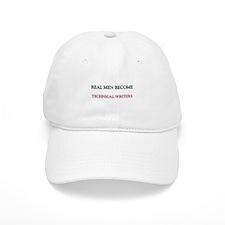 Real Men Become Technical Writers Baseball Baseball Cap