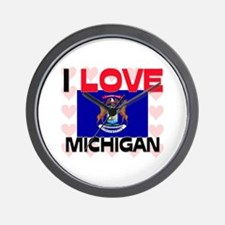 I Love Michigan Wall Clock