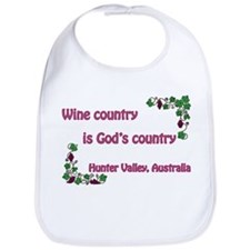 Wine country God's country Bib