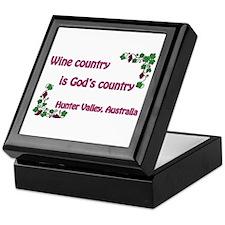 Wine country God's country Keepsake Box