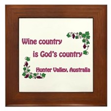 Wine country God's country Framed Tile