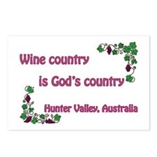 Wine country God's country Postcards (Package of 8