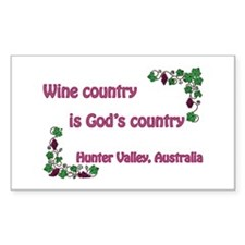 Wine country God's country Rectangle Decal