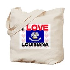 I Love Louisiana Tote Bag