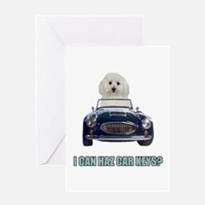 LOL Bichon Frise Greeting Card