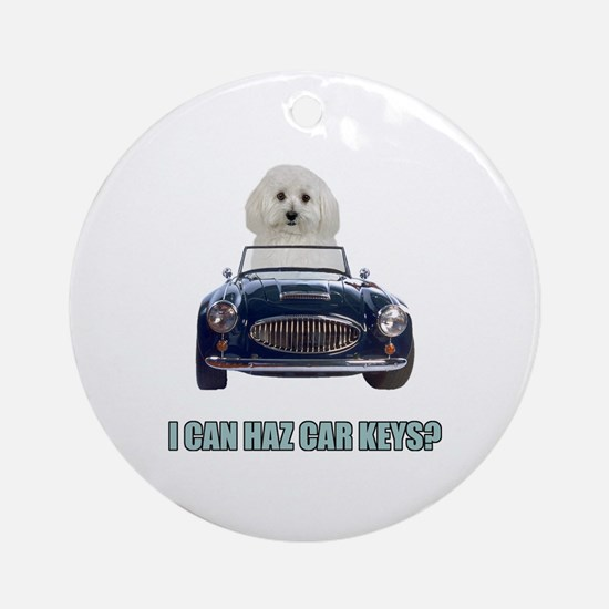 LOL Bichon Frise Ornament (Round)