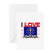 I Love Indiana Greeting Card