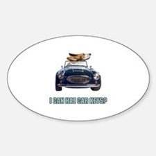 LOL Basset Hound Oval Decal