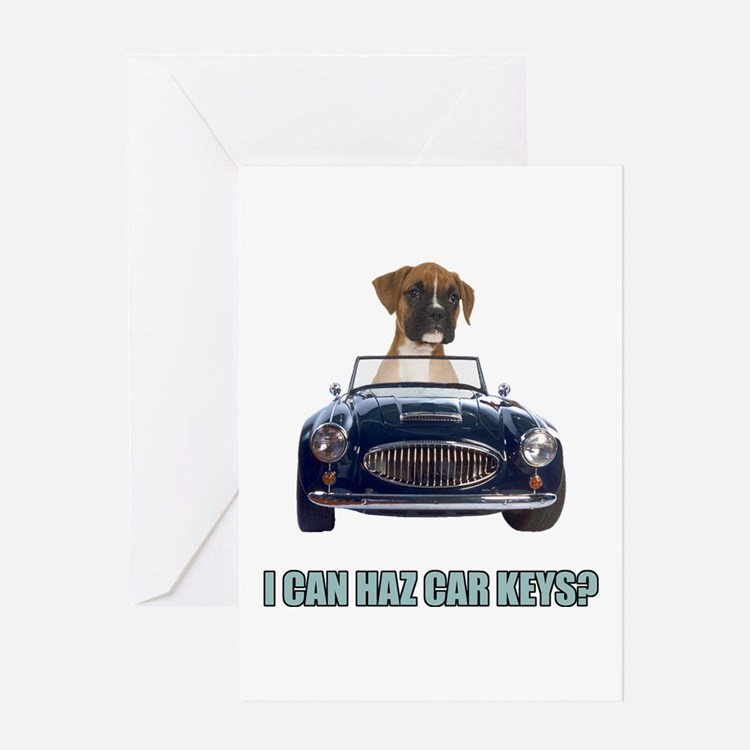 LOL Boxer Greeting Card