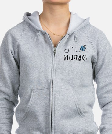 Nurse Gift Butterfly Zip Hoody