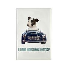 LOL Bull Terrier Rectangle Magnet